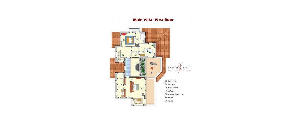 Villa La Rondine - Villa principale primo piano