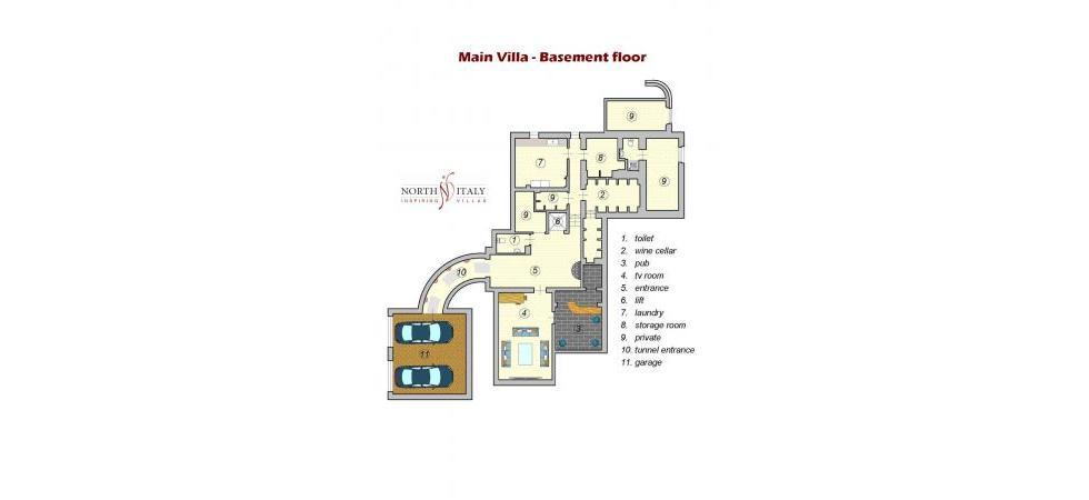 Villa La Rondine - Villa principale piano seminterrato